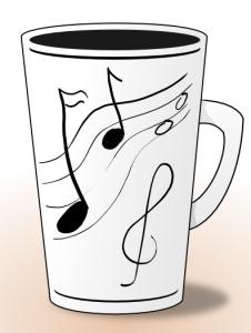 musicians tea cup